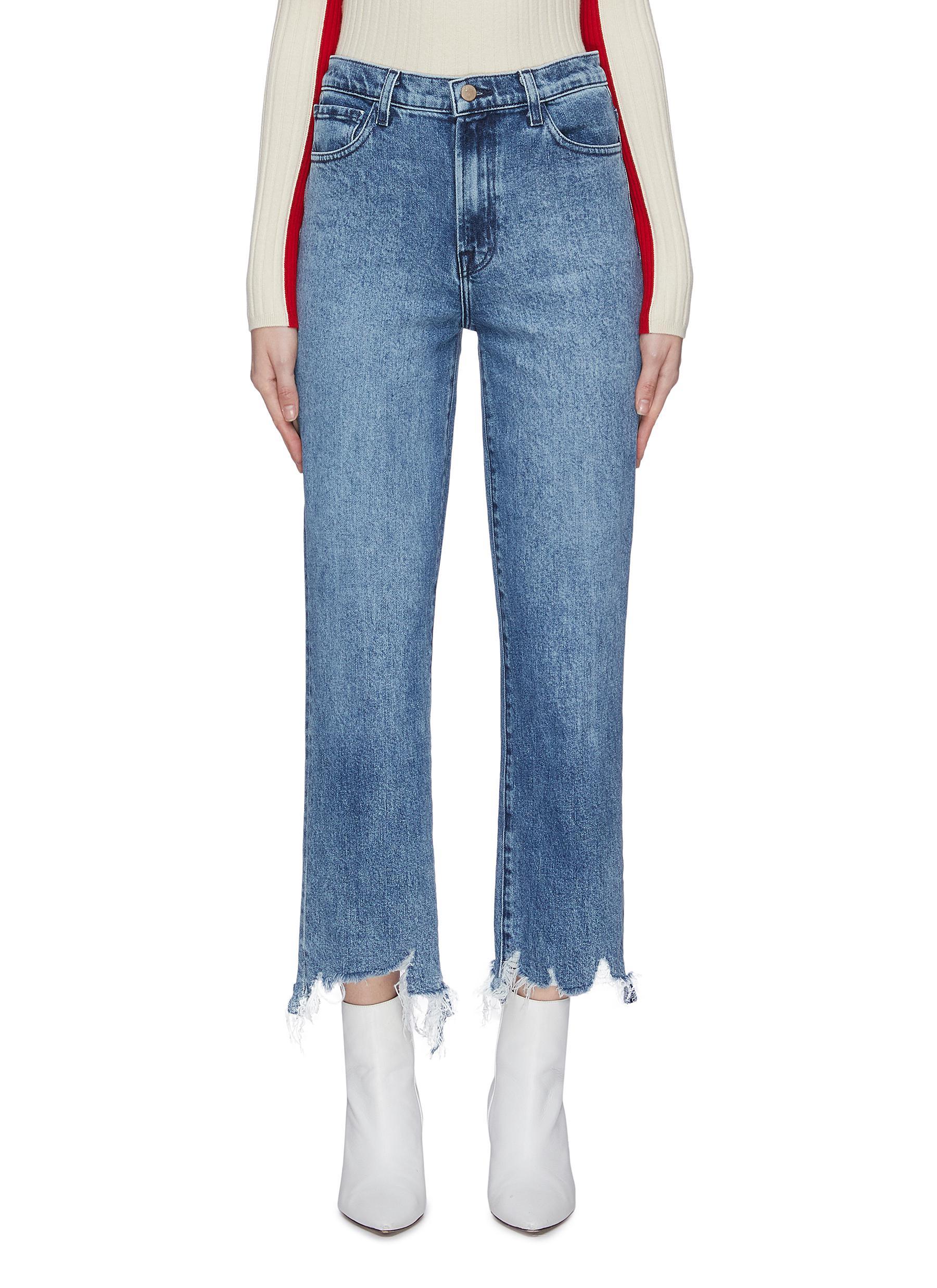 shop J Brand 'Jules' acid wash frayed hem jeans online