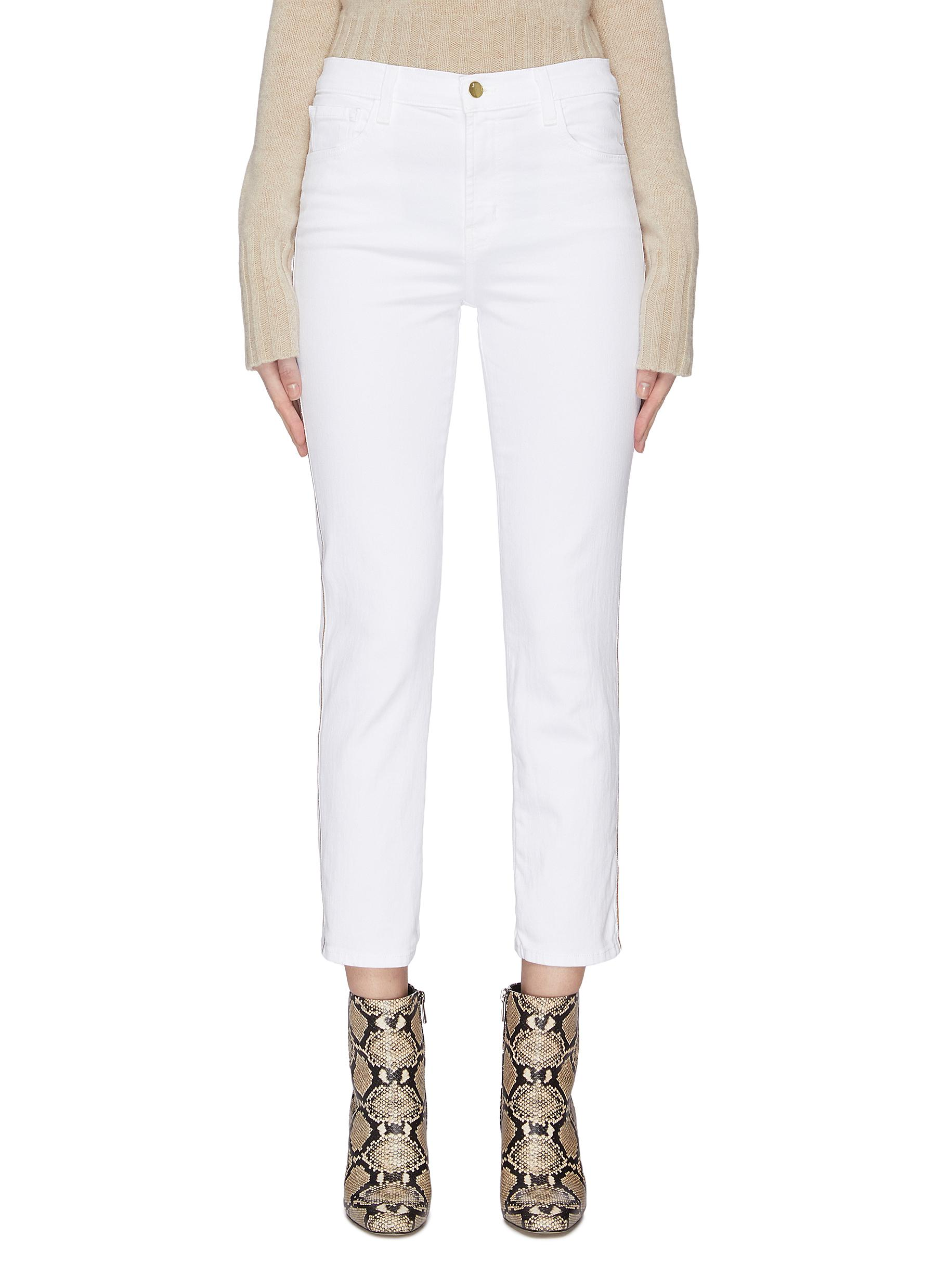 Buy J Brand Jeans 'Ruby' contrast outseam cigarette jeans