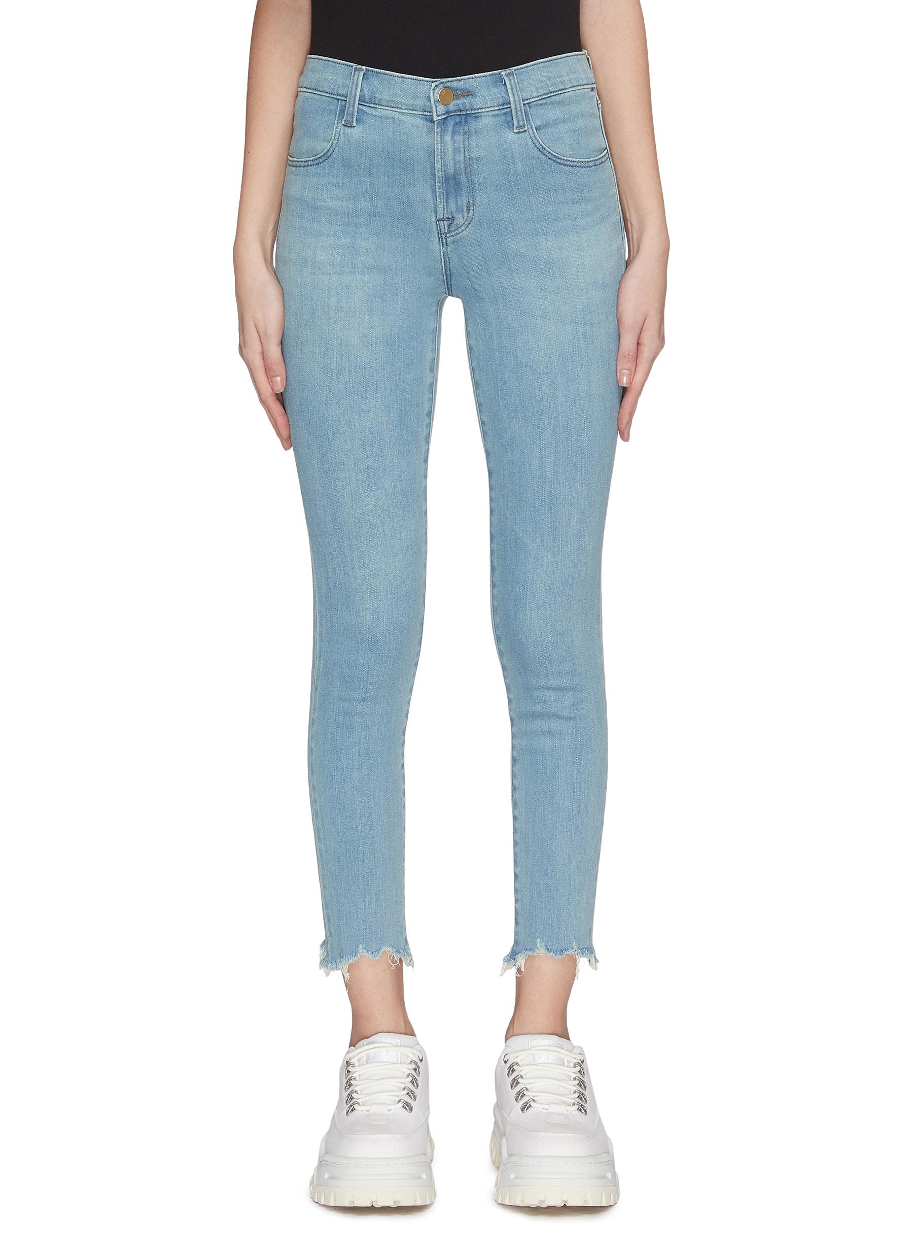 Buy J Brand Jeans 'Alana' frayed cuff cropped boot cut skinny jeans
