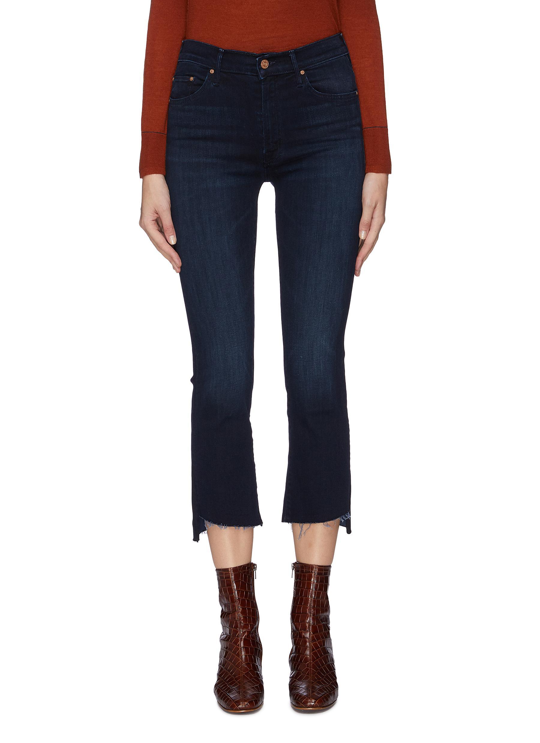 shop Mother 'The Insider' Crop Step Fray Jeans online