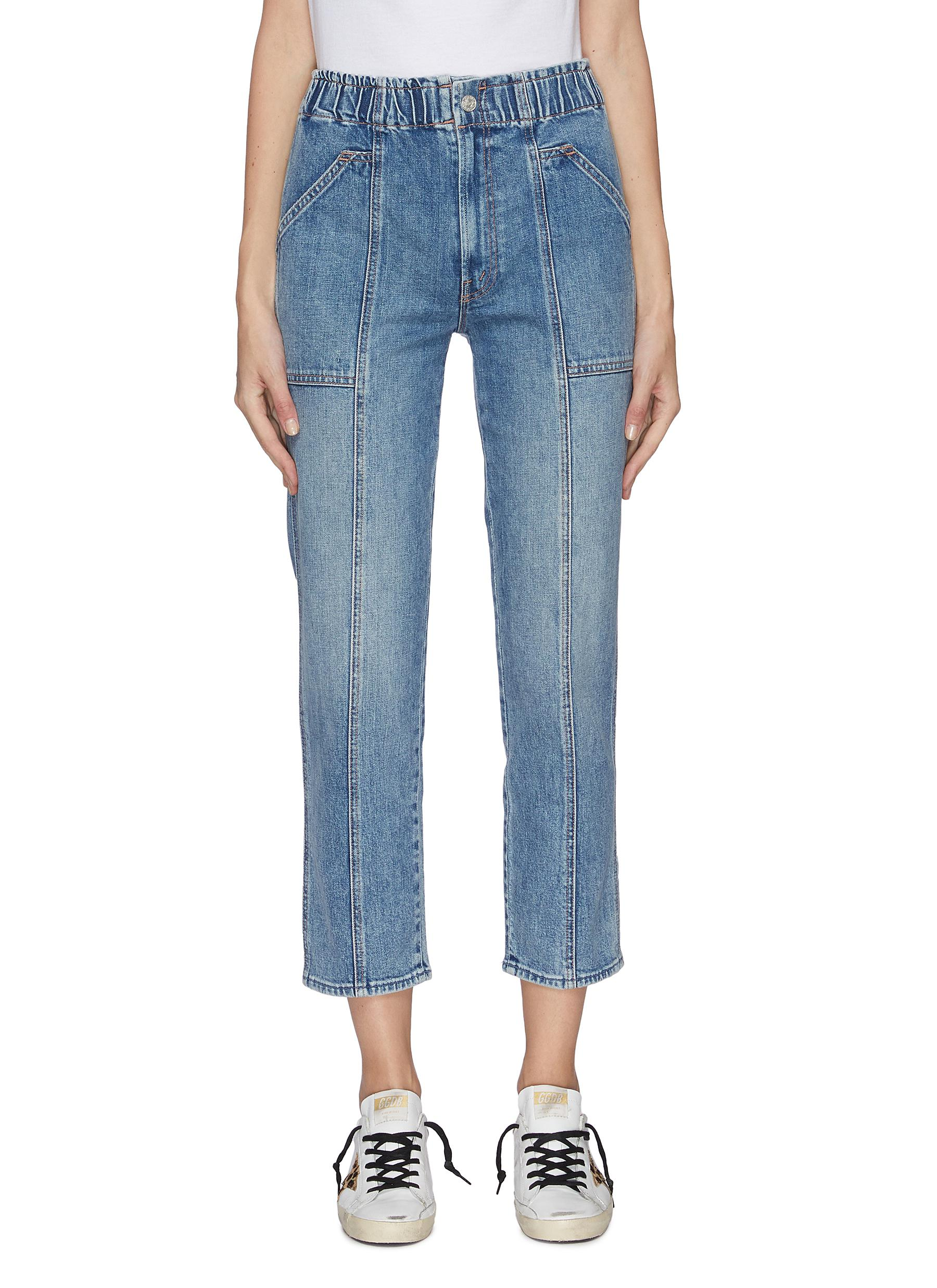 shop Mother 'The Springy' Ankle Waistband Jeans online