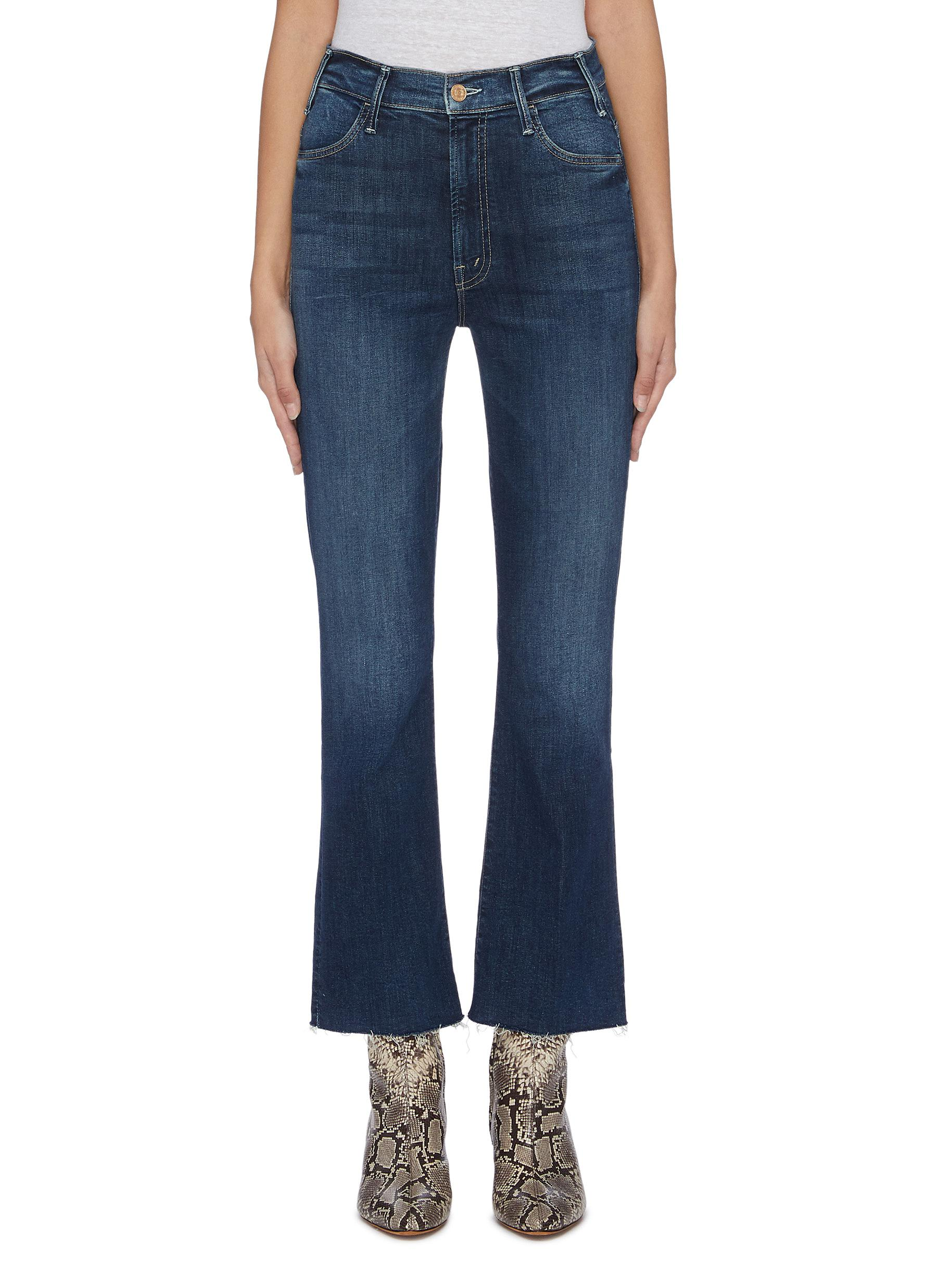 Buy Mother Jeans 'The Hustler' frayed cuff flared jeans