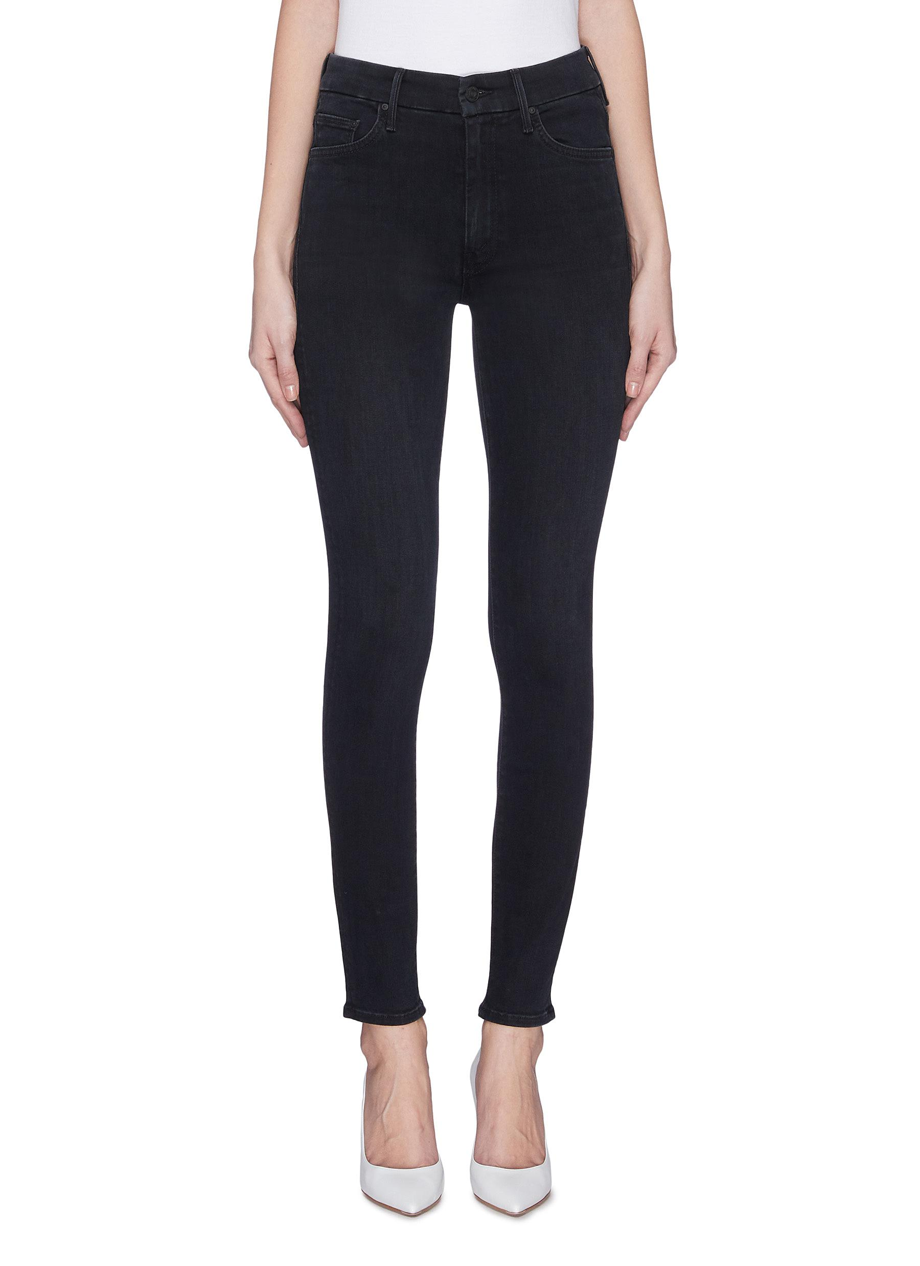 shop Mother 'The High Waisted Looker' star embroidered skinny jeans online