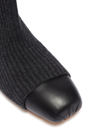 Detail View - Click To Enlarge - GABRIELA HEARST - Contrast toe sock knit ankle boots