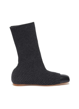 Main View - Click To Enlarge - GABRIELA HEARST - Contrast toe sock knit ankle boots