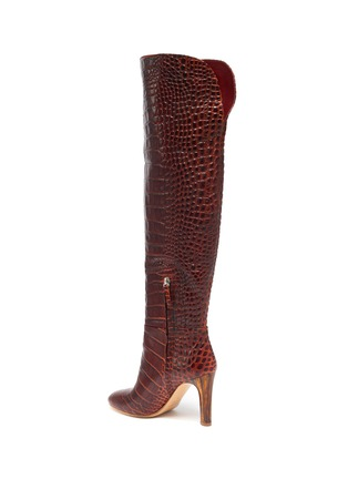 - GABRIELA HEARST - Croc embossed leather boots