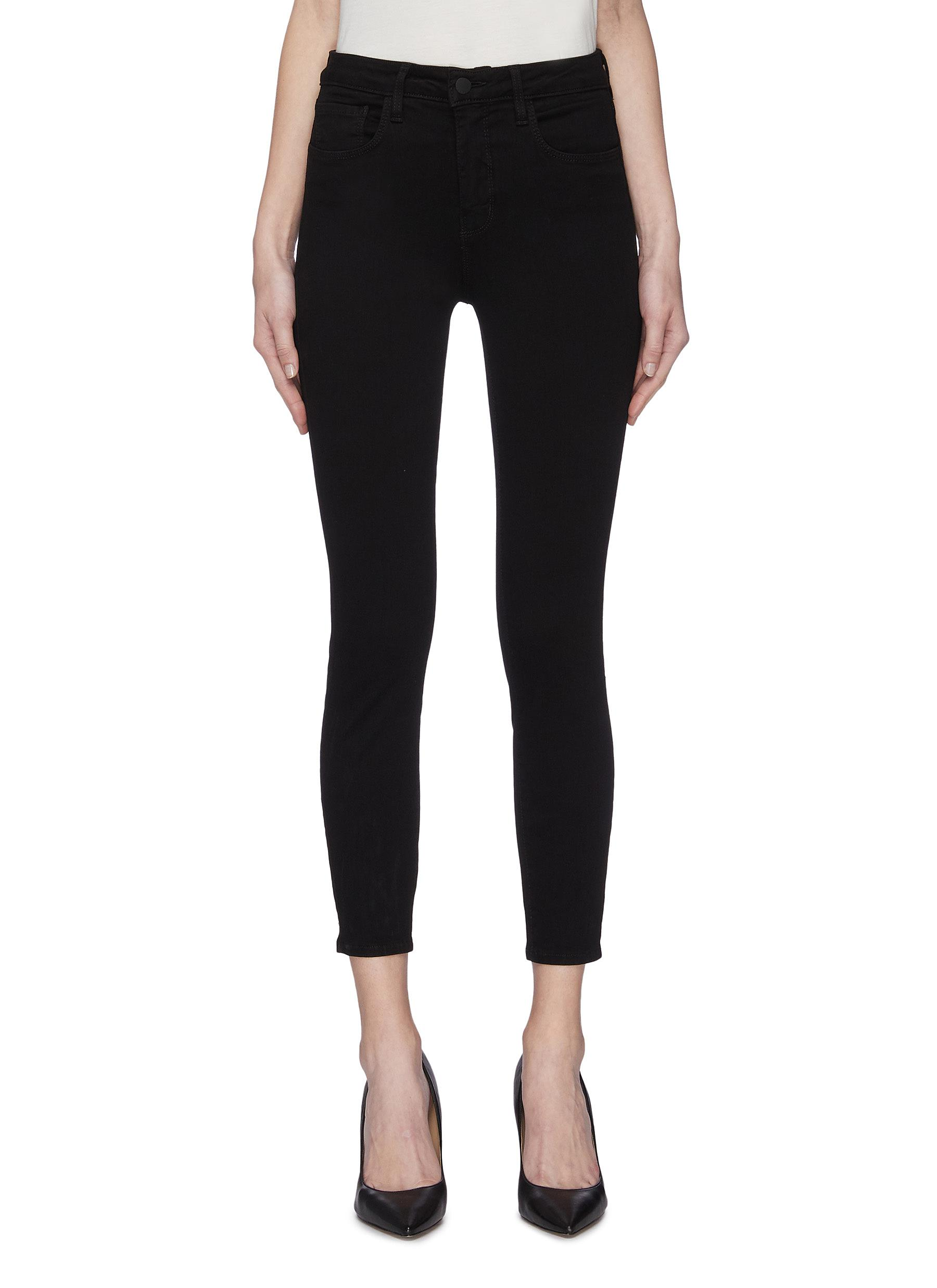 shop L'Agence 'Nicolette' safety pin cuff skinny jeans online