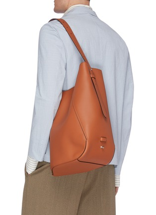 Front View - Click To Enlarge - LANVIN - Hook' asymmetrical bucket bag