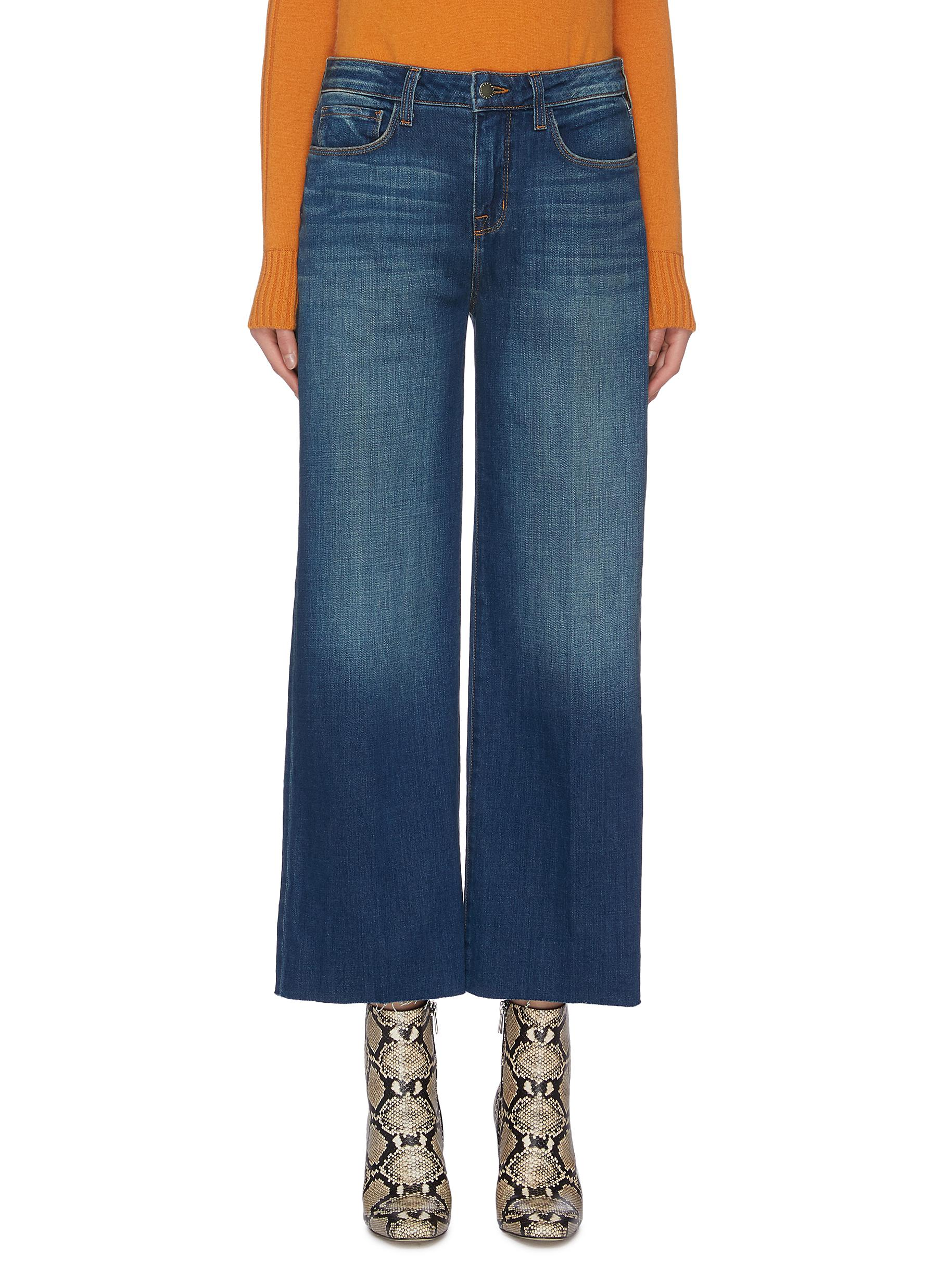 shop L'Agence 'Danica' dark meridian wash jeans online