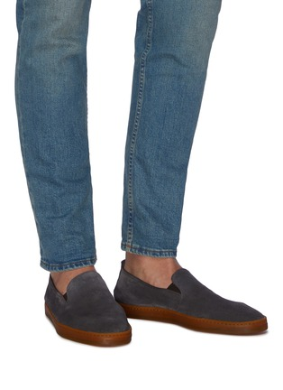 Figure View - Click To Enlarge - HENDERSON - 'Rodi' suede slipons