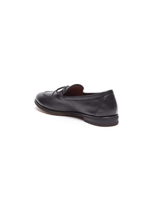 - HENDERSON - Latex tie leather loafers