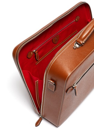 Detail View - Click To Enlarge - MARK CROSS - 'Baker Brief' in leather