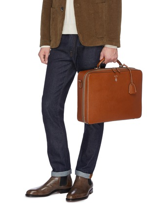 Front View - Click To Enlarge - MARK CROSS - 'Baker Brief' in leather