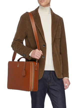 Figure View - Click To Enlarge - MARK CROSS - 'Baker Brief' in leather