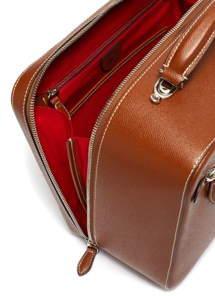 Detail View - Click To Enlarge - MARK CROSS - 'Baker Messenger' bag in leather