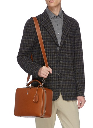 Figure View - Click To Enlarge - MARK CROSS - 'Baker Messenger' bag in leather