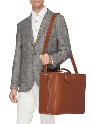 Figure View - Click To Enlarge - MARK CROSS - 'Baker Overnight' bag in leather