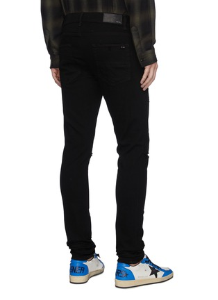 Back View - Click To Enlarge - AMIRI - Rip knee skinny jeans
