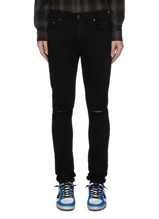 Main View - Click To Enlarge - AMIRI - Rip knee skinny jeans