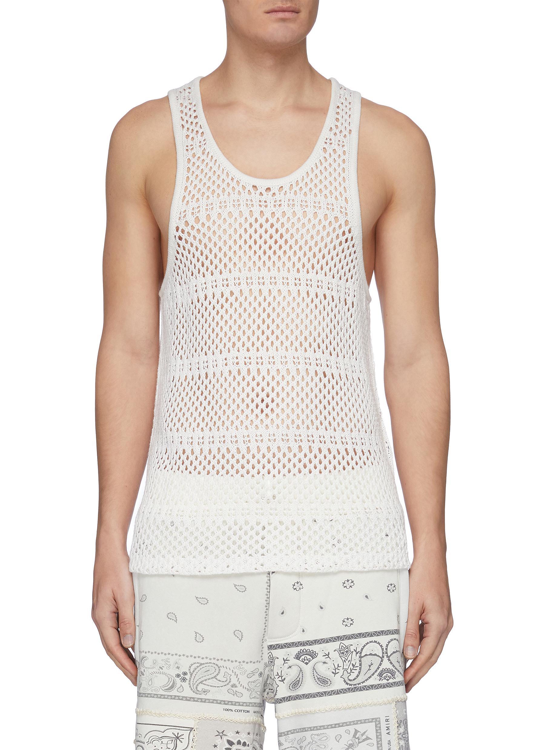 Amiri Cottons Crochet tank top