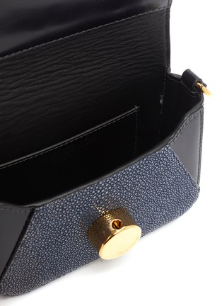 Detail View - Click To Enlarge - JW ANDERSON - 'Nano Keyts' pebbled leather crossbody bag