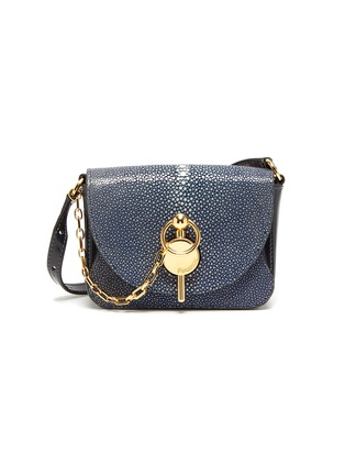 Main View - Click To Enlarge - JW ANDERSON - 'Nano Keyts' pebbled leather crossbody bag