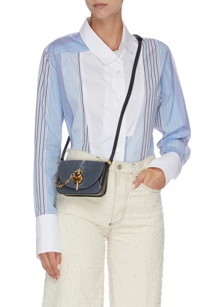 Figure View - Click To Enlarge - JW ANDERSON - 'Nano Keyts' pebbled leather crossbody bag