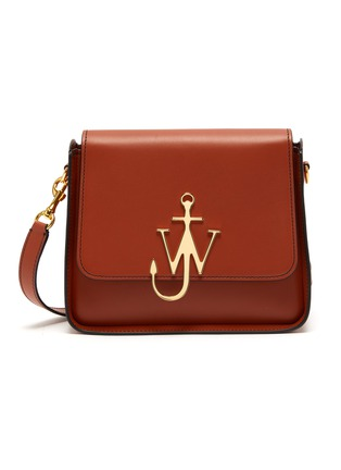 Main View - Click To Enlarge - JW ANDERSON - Logo plate leather crossbody bag
