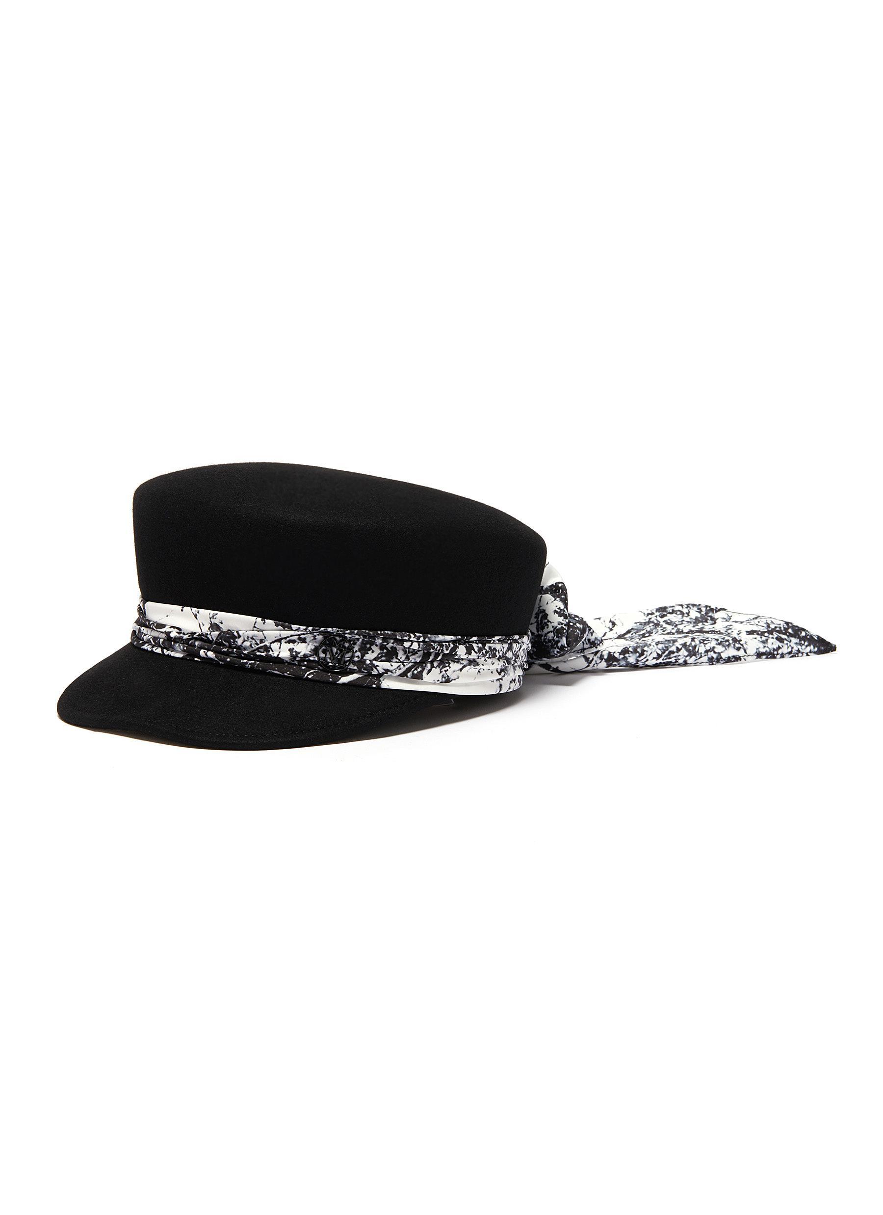 Maison Michel Accessories 'Abby' scarf newsboy cap