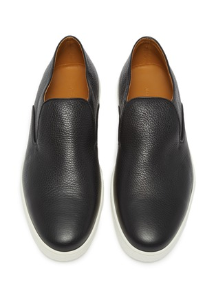 Detail View - Click To Enlarge - JOHN LOBB - 'Haven' grainy leather slip-ons