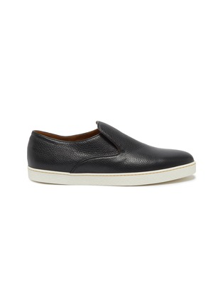 Main View - Click To Enlarge - JOHN LOBB - 'Haven' grainy leather slip-ons