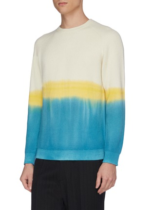 Detail View - Click To Enlarge - DREYDEN - 'Duke' dip dye rib knit cashmere sweater