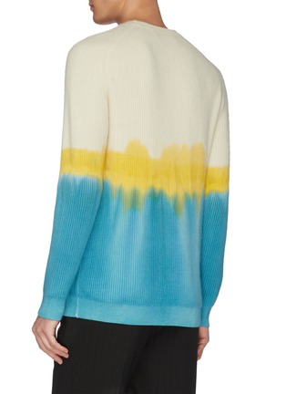 - DREYDEN - 'Duke' dip dye rib knit cashmere sweater