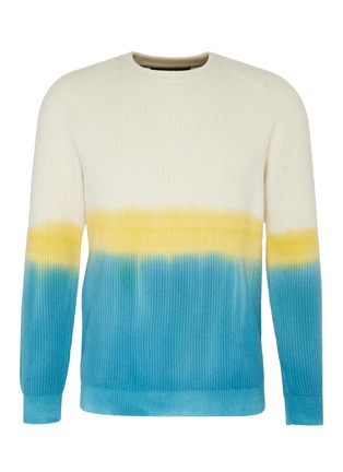 Main View - Click To Enlarge - DREYDEN - 'Duke' dip dye rib knit cashmere sweater