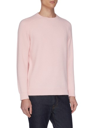 Detail View - Click To Enlarge - DREYDEN - 'Continental' rib knit cashmere sweater