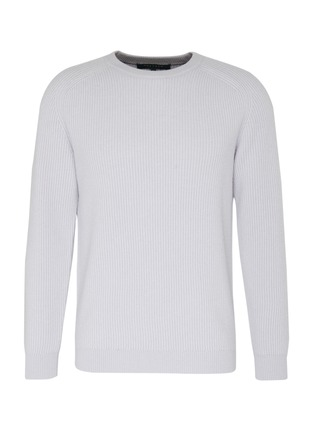 Main View - Click To Enlarge - DREYDEN - 'The Continental' rib knit cashmere sweater