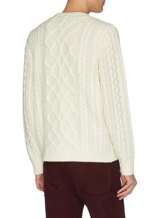 - DREYDEN - 'The Clardige' cable knit sweater
