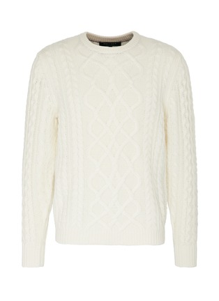 Main View - Click To Enlarge - DREYDEN - 'The Clardige' cable knit sweater