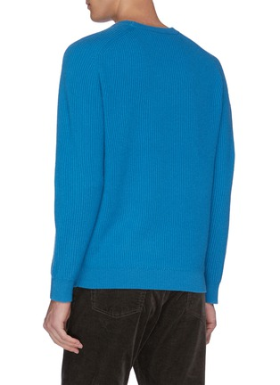 - DREYDEN - 'The Continental' rib knit cashmere sweater