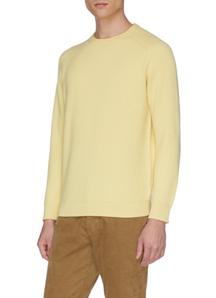 Detail View - Click To Enlarge - DREYDEN - 'The Continental' rib knit cashmere sweater