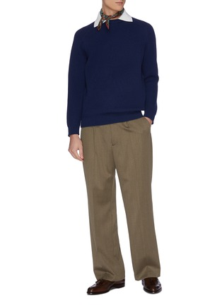 Figure View - Click To Enlarge - DREYDEN - 'Dean' insert collar rib knit cashmere sweater