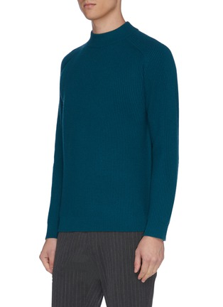 Detail View - Click To Enlarge - DREYDEN - 'The Cavalier' mock neck rib knit cashmere sweater