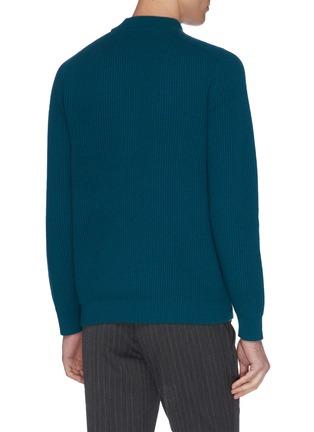 - DREYDEN - 'The Cavalier' mock neck rib knit cashmere sweater
