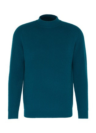 Main View - Click To Enlarge - DREYDEN - 'Cavalier' mock neck rib knit cashmere sweater