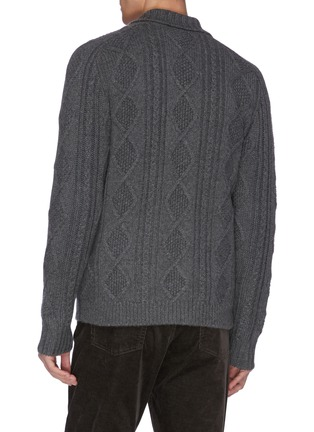 - DREYDEN - 'The Capital' shawl collar cable knit cashmere cardigan