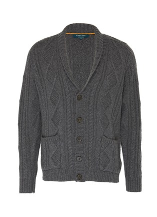 Main View - Click To Enlarge - DREYDEN - 'The Capital' shawl collar cable knit cashmere cardigan