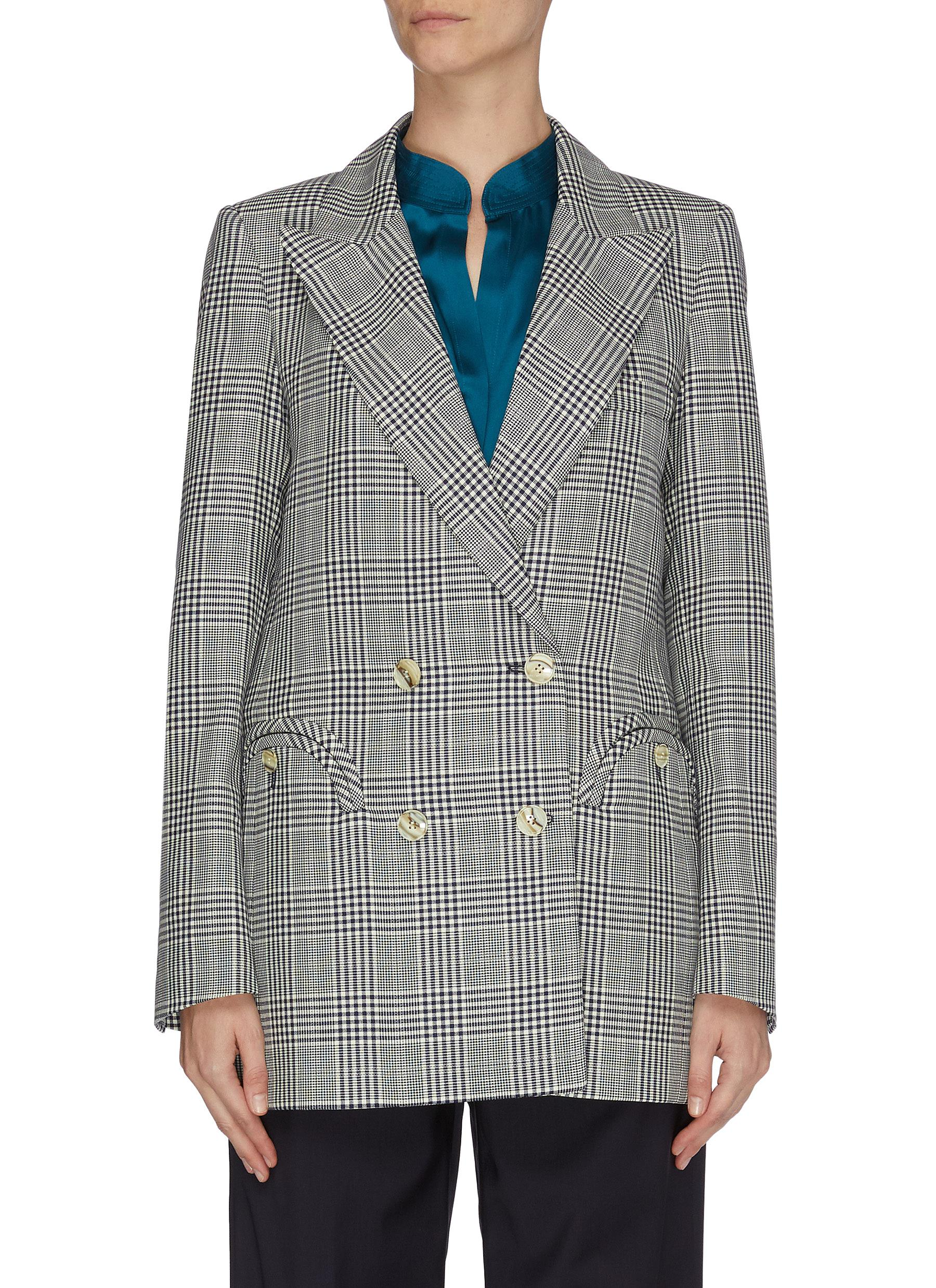 Buy Blazé Milano Blazers 'Everyday' check double breast blazer