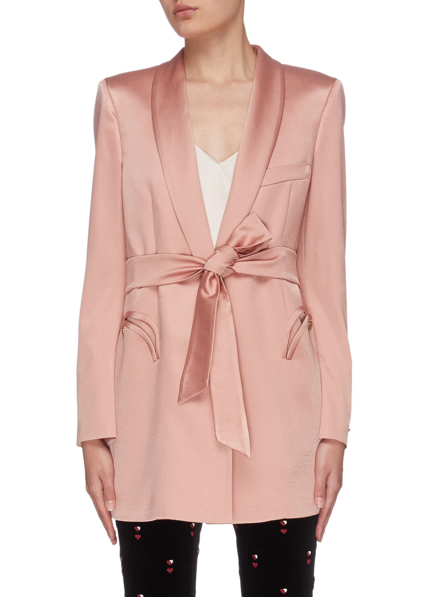 Buy Blazé Milano Blazers 'Athena Blush' sash tie blazer