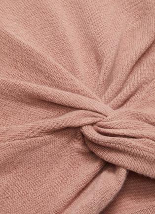 - FRAME DENIM - Twist front rib knit panel sweater