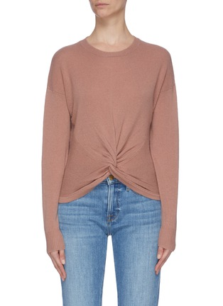 Main View - Click To Enlarge - FRAME DENIM - Twist front rib knit panel sweater